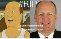 RIP  Claude Fontaine dela  To  uterive  Julien Another coach bites the dust.  Dh-amnit,Bill.  -BKLYN