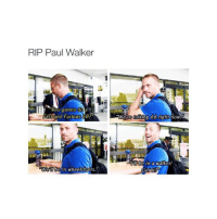"""I'm watching 6 rn.: RIP Paul Walker  You gonna do  ast and Furious 38?""""  Well be in wheelchairs.  were talking 66 right now.  lill be in a Walker!  Get It I'm watching 6 rn."""