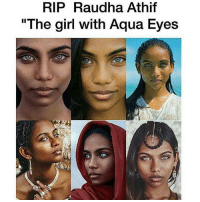 """A 21-year-old model who once graced the cover of Vogue was found dead this week, hanging from a ceiling fan in her Bangladesh dorm room. RaudhaAthif's horrified friends discovered her on Wednesday, swinging from the fan with a scarf tied around her neck inside her room at Islami Bank Medical College in Bangladesh, Zillur Rahman, the officer in charge at the Shah Makhdum police station, told the Daily Star. A friend cut the scarf and took Athif's body down, at first believing she was still alive, according to Rahman. Officials believe she committed suicide, according to the report. Athif, a second-year medical student at the school, gained fame in 2014 with her """"Maldivian Girl With Aqua Blue Eyes"""" photo shoot. She, along with five other women, appeared on the cover of Vogue India last October for a """"Beauty in Diversity"""" photo shoot. RIP: RIP Raudha Athif  """"The girl with Aqua Eyes A 21-year-old model who once graced the cover of Vogue was found dead this week, hanging from a ceiling fan in her Bangladesh dorm room. RaudhaAthif's horrified friends discovered her on Wednesday, swinging from the fan with a scarf tied around her neck inside her room at Islami Bank Medical College in Bangladesh, Zillur Rahman, the officer in charge at the Shah Makhdum police station, told the Daily Star. A friend cut the scarf and took Athif's body down, at first believing she was still alive, according to Rahman. Officials believe she committed suicide, according to the report. Athif, a second-year medical student at the school, gained fame in 2014 with her """"Maldivian Girl With Aqua Blue Eyes"""" photo shoot. She, along with five other women, appeared on the cover of Vogue India last October for a """"Beauty in Diversity"""" photo shoot. RIP"""