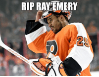 Former NHL goalie Ray Emery has drowned this morning in Hamilton Harbor. Damn. RIP Ray❤️: RIP RAY EMERY  2 Former NHL goalie Ray Emery has drowned this morning in Hamilton Harbor. Damn. RIP Ray❤️
