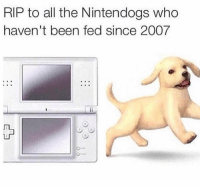 Funny, Lol, and All The: RIP to all the Nintendogs who  haven't been fed since 2007 Rip lol