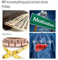 Friday, Lost, and Liver: RIP to everything you've lost since  Friday  Motivation  drgrayfang  HEALTHY LIVER  0%w