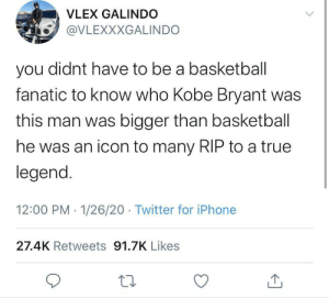 RIP to Kobe Bryant, a true legend: RIP to Kobe Bryant, a true legend