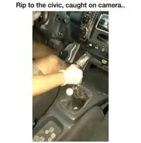 Memes, Camera, and 🤖: Rip to the civic, caught on camera..  te Dm to someone who drives a civic 💯🔥