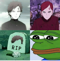 Memes, 🤖, and Gaara: RIP We'll never forget you Gaara's cool hair style