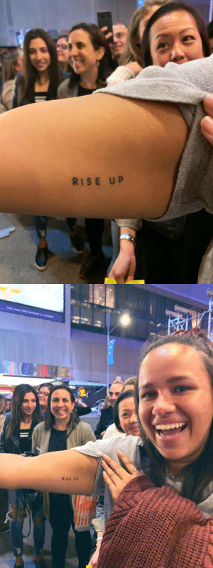 Memes, The View, and Stage Door: RISE UP   THE VIEW ESURANT&LO  RISE UP Seen at the #FreestyleLoveSupreme stage door tonight ?? https://t.co/89lgl4S3fd