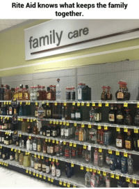 rite aid: Rite Aid knows what keeps the family  together.  family care