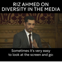 Dank, 🤖, and Media: RIZ AHMED ON  DIVERSITY IN THE MEDIA  Sometimes it's very easy  to look at the screen and go: Riz Ahmed speaks on representation of minorities in mainstream media--a struggle I know all too well.  via Channel 4 News