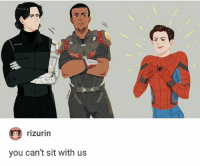 Love, Memes, and 🤖: rizurin  you can't sit with us Hey everyone I just remembered how much I love Bucky Barnes