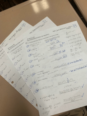 """AP Calculus is a major Y I K E S: RM A  31  FORM A  Name RecEWELS  ed  lator)  AB  AP Calculus AB  ules (N  Calculuentiation Rules (No C  Quiz Differentiation Rules (No Calculator)  Name  I, Find each derivative. Place your final answers in the blanks provided  Jaul hitecran ens  Find each derivative. Place your fir  33  bp x)-7x-2x+5x-6  1 f(x)-7  35x-8+3  FORM B  42x-2 x  42x-6x+S  yIn(x-4)  Cey In(x-2)  In(1)  X-4  atv A)  3 3 h)  4X  5e  sh  Y absy'sabab  y yd'b-at  6f(x) 4  dy  y log, x  65. ylog, x  logsl  xIn3  hoo  6. y ( y2.7sec(8x)  secle 8)ab eclan()  7. g(x)=-4 sin' (5x)  Sn Sx) cos)-eo sn(selaoslS  0R8S  ya7x- -'  Ya'brab  9. y-(S""""+4 7-6)  a'son'-o b s6-0  Tx(c6s ()-7(sin A))  4.9  10. f(x)-Sinx  a's cost)  7x  y':Ab-a  b  Name  ve. Place your  2x+3x-8  yIn(x-2)  63. hx)  b4. f(x) 4  y log, x  )6. y-7.2 see(6;  g(x)- AP Calculus is a major Y I K E S"""