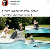 Memes, 🤖, and Photo: rob dobi  @Robdobi  if there is a better stock photo  narrative i haven't seen it  ge  géttyimage  gettyimages gmorning