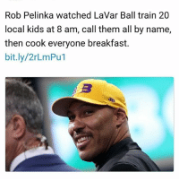 "Confidence, Crazy, and Crime: Rob Pelinka watched LaVar Ball train 20  local kids at 8 am, call them all by name,  then cook everyone breakfast.  bit.ly/2rLmPu1 This is the side of Lavar that nobody talks about. Think about this, his biggest ""crime"" is loving his sons and believing in them ""too much"". Makes you wonder what kind of society we live in. Sure he's got a loud mouth and says crazy stuff in interviews, but he's just got a high level of confidence. Above all, Lavar is really a businessman, he knows how to attract attention to a point where he's now a very well known person-celeb. Now, he's making millions running the Big Baller Brand company. Can't hate on a man who just wants the best for his family 🙏🏽🙏🏽"