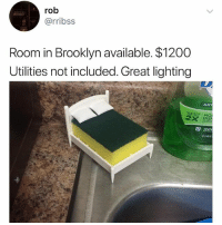 Do I have to pay a brokers fee: rob  @rribss  Room in Brooklyn available. $1200  Utilities not included. Great lighting  ANT  DISH  apple Do I have to pay a brokers fee