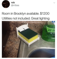 Utilities: rob  @rribss  Room in Brooklyn available. $1200  Utilities not included. Great lighting  ANT  DIS  apple