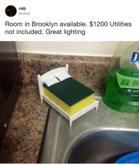 "Apple, Bailey Jay, and Target: rob  @rribss  Room in Brooklyn available. $1200 Utilities  not included. Great lighting   ANT  DISH  apple <p><a href=""http://tumblr.tastefullyoffensive.com/post/168191301673/1200-is-a-steal-via-rribss"" class=""tumblr_blog"" target=""_blank"">tastefullyoffensive</a>:</p><blockquote><p>$1,200 is a steal. (via <a href=""https://twitter.com/rribss/status/936784423084683264"" target=""_blank"">rribss</a>)</p></blockquote>"