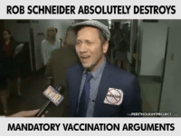 I didn't realize Rob Schneider was so awake!  Do you agree with him?: ROB SCHNEIDER ABSOLUTELY DESTROYS  THE FREETHOUGHTPROJECT COM  MANDATORY VACCINATION ARGUMENTS I didn't realize Rob Schneider was so awake!  Do you agree with him?