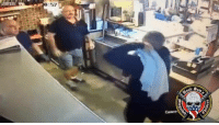 ROBBER TAKEDOWN: When an armed man entered an Arizona restaurant and demanded money, workers in the store were not intimidated and fought back. 2A GunsAreGood yougoingtolearntoday: ROBBER TAKEDOWN: When an armed man entered an Arizona restaurant and demanded money, workers in the store were not intimidated and fought back. 2A GunsAreGood yougoingtolearntoday