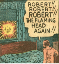 God, Head, and Thought: ROBERT!!  ROBERT  ROBERT!!  HEAD  AGAIN  THE FLAMING Oh, god damn it. Not again. I thought we sprayed for those.