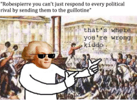 "Memes, History, and Revolution: ""Robespierre you can't just respond to every political  rival by sending them to the guillotine""  thatis where  you 're wrong"