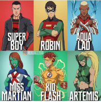 Who's your favorite from young justice? By @heroaccess ! dc dccomics dceu dcu dcrebirth dcnation dcextendeduniverse batman superman manofsteel thedarkknight wonderwoman justiceleague cyborg aquaman martianmanhunter greenlantern theflash greenarrow suicidesquad thejoker harleyquinn comics injusticegodsamongus: ROBIN LAD  COHERDACCES  MARTIAN FLASH ARTEMIS Who's your favorite from young justice? By @heroaccess ! dc dccomics dceu dcu dcrebirth dcnation dcextendeduniverse batman superman manofsteel thedarkknight wonderwoman justiceleague cyborg aquaman martianmanhunter greenlantern theflash greenarrow suicidesquad thejoker harleyquinn comics injusticegodsamongus