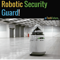 Robotic Security  Guard  Tech Future. This is Knightscope, and it is a small robotic security guard. It has sensors and cameras and generates over 90 Tb worth of data and is able to understand their surroundings! Would you want to buy this robot? Tag someone who would be interested in this! | tech technology future new robot machine soon cool | Photo: N-A | Info: Futurism