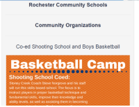 Basketball, Community, and Run: Rochester Community Schools  Comrmunity Organizations  Co-ed Shooting School and Boys Basketball  Basketball Camp  Shooting School Coed:  Stoney Creek Coach Steve Norgrove and his staff  will run this skills based school. The focus is to  instruct players in proper basketball technique and  fundamental skills, improve their knowledge and  ability levels, as well as assisting them in becoming