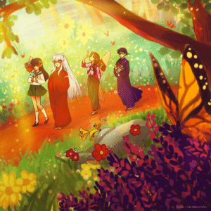 rocioo: ✿❁✿ The Inuyasha gang encounter a flower garden ✿❁✿ A collab done with KakiraMinamotou! We developed the idea, and she managed to capture it in a drawing so perfectly! full : Rocioo +KakiraMinamotou rocioo: ✿❁✿ The Inuyasha gang encounter a flower garden ✿❁✿ A collab done with KakiraMinamotou! We developed the idea, and she managed to capture it in a drawing so perfectly! full