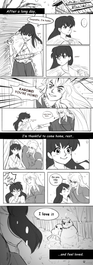rocioo: Reveal time!! @inusecretsanta gift for@inuyashasforest ! Lauren, I hope you like the 'snow + inukag' and Inuyasha getting Kagome to smile lil comic!❤: rocioo: Reveal time!! @inusecretsanta gift for@inuyashasforest ! Lauren, I hope you like the 'snow + inukag' and Inuyasha getting Kagome to smile lil comic!❤