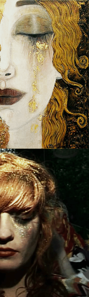 rock-n-rollin-bitch: Left: Freya's Tears by Gustav Klimt Right: Florence Welch in Dog Days Are Over music video : rock-n-rollin-bitch: Left: Freya's Tears by Gustav Klimt Right: Florence Welch in Dog Days Are Over music video