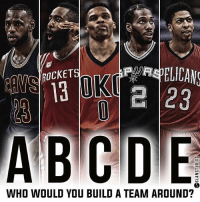 Who would you take? @slamstudios Tags: Legends Stars Pick1: ROCKET  e 23  WHO WOULD YOU BUILD A TEAM AROUND? Who would you take? @slamstudios Tags: Legends Stars Pick1