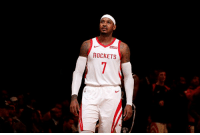 Rockets players and coaches believe that Carmelo Anthony has played his final game for the franchise, per espn_macmahon/Twitter: ROCKETS Rockets players and coaches believe that Carmelo Anthony has played his final game for the franchise, per espn_macmahon/Twitter