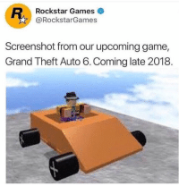 Theft Auto: Rockstar Games  @RockstarGames  Screenshot from our upcoming game,  Grand Theft Auto 6.Coming late 2018.
