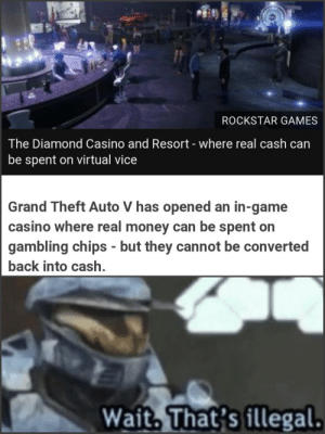Rockstar Games The Diamond Casino And Resort Where Real Cash Can