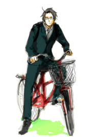 Saw, Target, and Tumblr: roderich-edelfine:  aphnetherland:  No Title  he looks like he just saw Vash riding past while towing a cart of discounted 50%off toilet paper from the storejELLY