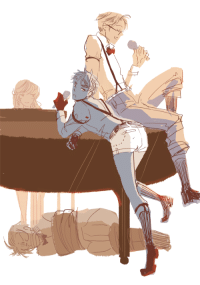 Dude, Lol, and Target: roderich-edelfine:  rockets: lol boyband.png (the dude on the floor is austria btw)  when you play too much chopin