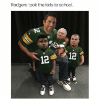 Memes, 🤖, and Too Soon: Rodgers took the kids to school.  12  NFL MEMES TOO SOON (last like wins 🏁)