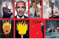 Memes, Time, and 🤖: ROES  The De  TIME  er  The Next  President  er  TIMEDE  TIME  TIME How can anybody possibly think the media is unbiased and non-partisan?   (MJ)