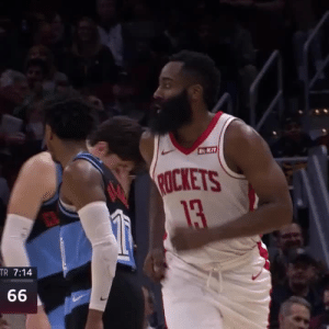 BEARD 🔥 55 POINTS! 5 POINTS FROM THE FT LINE!!   https://t.co/sxAVXZX5u9: ROKIT  ROCKETS  13  TR 7:14  66 BEARD 🔥 55 POINTS! 5 POINTS FROM THE FT LINE!!   https://t.co/sxAVXZX5u9