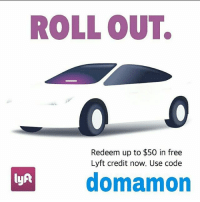 ROLL OUT.  Redeem up to $50 in free  Lyft credit now. Use code  domamon  lyft Guy's if you out and Drinking Remember don't drink and drive use our Lyft Code (domamon) and get up to $50 in Free Rides! Just download the app from our Bio and use our code! Be Safe🙌🏻dontdrinkanddrive Amigos si van a tomar recuerden no tomen 🍺y 🚗manejen usa nuestro codigo de lyft ➡(domamon)y gana hasta $50 dolares en credito solo por subscribirte solo baja la aplicacion de arriba en mi bio cuidense sitomasnomanejes