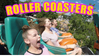 Dank, Watch, and Youtu: ROLLER COASTERS Hi guys! This week, we went to a theme park and rode some SUPER fun (and scary) roller coasters!   Watch Here: https://youtu.be/vJRJ8yYz00k