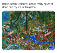 Follow us for the best daily Nostalgia posts on Facebook!: RollerCoaster lycoon! I lost so many hours of  sleep and my life to this game  MEMES Follow us for the best daily Nostalgia posts on Facebook!