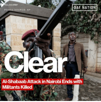 Memes, 🤖, and Source: ROLLING BRIEF  OAF NATION  PHOTO SOURCE: AP  ear  Al-Shabaab Attack in Nairobi Ends with  Militants Killed