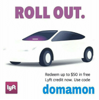 ROLLOUTS  Redeem up to $50 in free  Lyft credit now. Use code  domamon  lyft Guy's if you out and Drinking Remember don't drink and drive use our Lyft Code (domamon) and get up to $50 in Free Rides! Just download the app from our Bio and use our code! Be Safe🙌🏻dontdrinkanddrive Amigos si van a tomar recuerden no tomen 🍺y 🚗manejen usa nuestro codigo de lyft ➡(domamon)y gana hasta $50 dolares en credito solo por subscribirte solo baja la aplicacion de arriba en mi bio👆 cuidense sitomasnomanejes