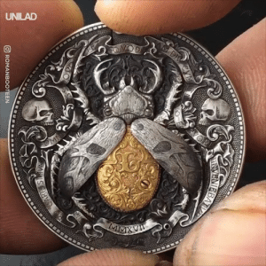 Dank, 🤖, and Level: ROMANBOOTEEN The level of detail that goes into these engraved coins is actually incredible 😱😍