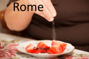 F to the City: Rome  Carthage F to the City