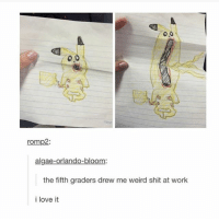 Click the link in my bio: romp2  algae  or  the fifth graders drew me weird shit at work  i love it Click the link in my bio