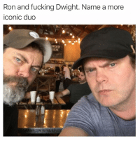 @drgrayfang is hands down the best account on IG: Ron and fucking Dwight. Name a more  iconic duo  ORDER  HERE @drgrayfang is hands down the best account on IG