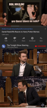 Daniel Radcliffe Reacts To