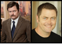 Ron Swanson with | ෴ | Ron Swanson without: Ron Swanson with | ෴ | Ron Swanson without