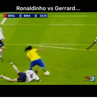 Football, Memes, and Soccer: Ronaldinho vs Gerrard...  ENG 0 BRA 0 33:33  3 See you later ⚽️ football soccer jogabonito ronaldinho memes memesdaily [via🎥@rldesignz]